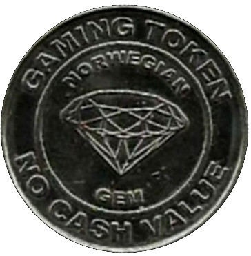 Norwegian Cruise Line Gaming Token Ring Size 10 and Double Sided