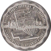 Souvenir Dollar - Nebraska Centennial (Saline County) -  obverse