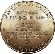 50 Cents - Perry Sesquicentennial Celebration (Erie, Pennsylvania) -  obverse