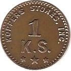 1 Cent - Koppers Stores (Type 2) -  obverse