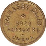 25 Cents - Embassy Club (Omaha, Nebraska) -  obverse