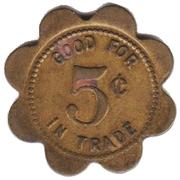 5 Cents - Micek Bar (Duncan, Nebraska) -  obverse