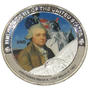 Token - John Adams (2nd President) -  obverse