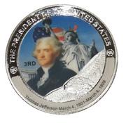 Token - Thomas Jefferson (3rd President) -  obverse