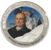 Token - John Quincy Adams (6th President) -  obverse