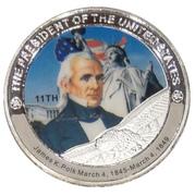 Token - James K. Polk (11th President) -  obverse