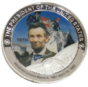 Token - Abraham Lincoln (16th President) -  obverse