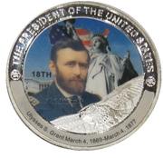 Token - Ulysses S. Grant (18th President) -  obverse