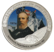 Token - Rutherford B. Hayes (19th President) -  obverse