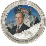 Token - George H.W. Bush (41st President) -  obverse
