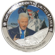 Token - Bill Clinton (42nd President) -  obverse