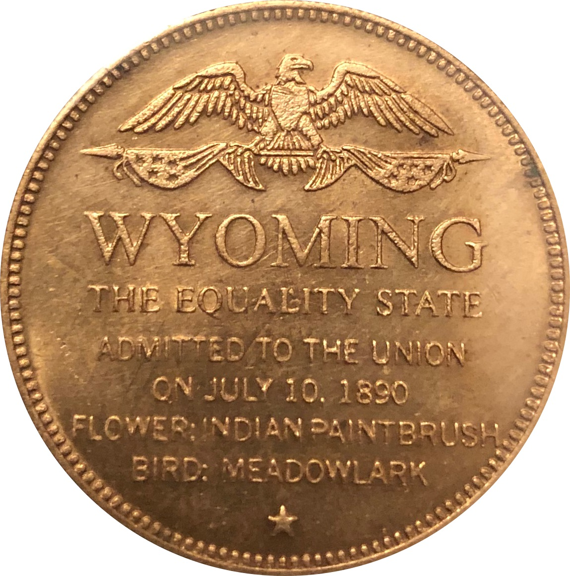 Idaho Bronze State Token United States