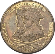 So-Called Dollar - Lewis and Clark Centennial Exposition -  reverse