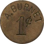 1 Cent - A. Burnet – obverse