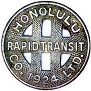 1 Full Fare - Honolulu Rapid Transit Co. (Honolulu, Hawaii) -  obverse