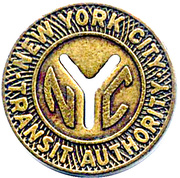 1 Fare - New York City Transit Authority (16 mm) -  obverse