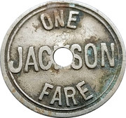 1 Fare - Michigan Railway Company (Jackson, Michigan) -  obverse