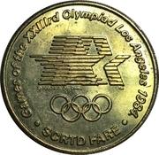 Token - SCRTD Fare (Games of the XXIIIrd Olympiad Los Angeles 1984 - Track & Field; Los Angeles, California) -  obverse