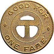 1 Fare - Tucson Transit System (Tucson, Arizona) -  reverse