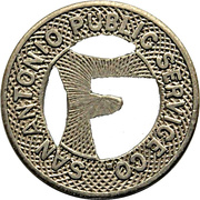 1 Fare - San Antonio Public Service Co. (San Antonio, Texas) -  obverse