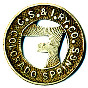 1 Full Fare - Colorado Springs & Interurban Railway Co. (Colorado Springs, Colorado) -  obverse