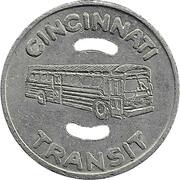 1 Adult Fare - Cincinnati Transit (Cincinnati, Ohio) -  obverse