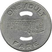 1 Adult Fare - Cincinnati Transit (Cincinnati, Ohio) -  reverse