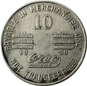 10 Cents - Pugh Coal Company (Stone Cliff, West Virginia) -  obverse