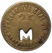 25 Cents - Margarette Coal Co. (Marfrance, West Virginia) -  obverse