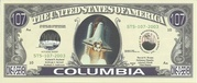 107 Dollars (Space Shuttle Columbia) -  obverse