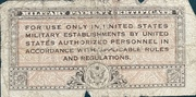5 Cents Military Payment Certificate Series 461 (1946-1947) – reverse