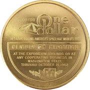 1 Dollar - 1962 Seattle Worlds Fair – reverse