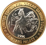 10 Dollar Gaming Token - Caesars Palace (Las Vegas, Nevada) – reverse