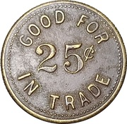 25 Cents - Pirates Cave (Fort Worth, Texas) – reverse