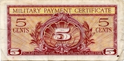 5 Cents (MPC Series 591) – reverse