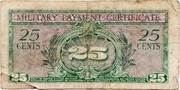 25 Cents (Military Payment Certificate) – reverse