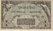 1 Dollar Military Payment Certificate Series 481 – obverse