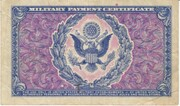 1 Dollar Military Payment Certificate Series 481 – reverse