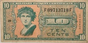 10 Cents (Military Payment Certificate) – obverse