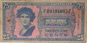 25 Cents (Military Payment Certificate) – obverse