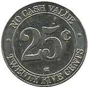 25 Cents WashToken – reverse
