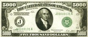 5,000 Dollars (Federal Reserve Note - Small Portrait) – obverse