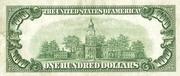 100 Dollars (Gold Certificate) – reverse