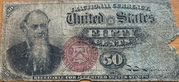 """50 Cents (""""Fractional Currency"""" - 4th issue) – obverse"""