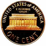 """1 Cent """"Lincoln Memorial Cent"""" – reverse"""