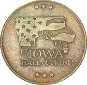 Iowa Hall of Pride Token -  obverse