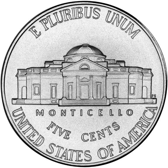 Monticello (IN) United States  city images : PLURIBUS UNUM MONTICELLOFIVE CENTSUNITED STATES OF AMERICA
