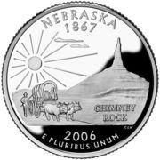 "¼ Dollar ""Washington Quarter"" (Nebraska - Silver Proof) -  reverse"