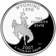 "¼ Dollar ""Washington Quarter"" (Wyoming - Silver Proof) -  reverse"