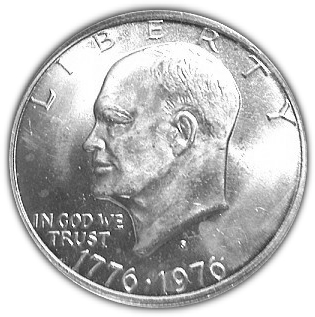 1 Dollar Eisenhower Bicentennial Dollar Silver Collectors Issue